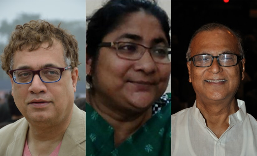 Derek O'Brien, Dola Sen and Pradip Bhattacharya. Agencies
