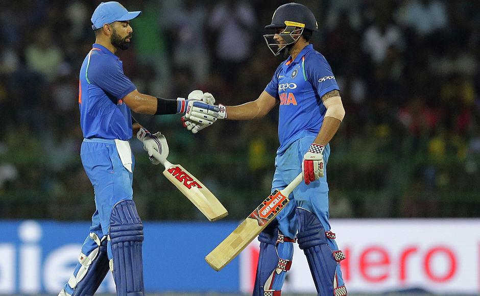 Manish Pandey and Virat Kohli got together for a 99-run partnership. AP