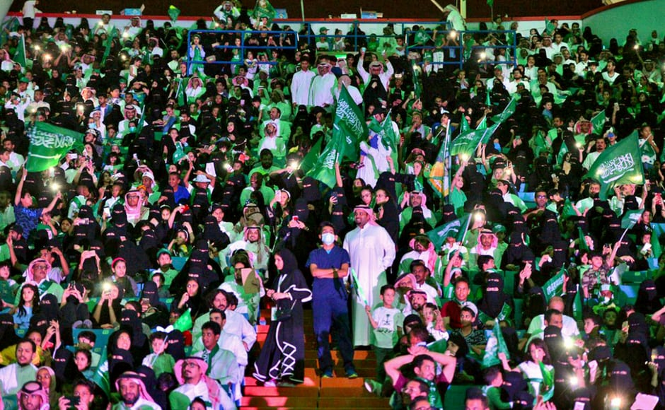 Saudi Arabia celebrated the country's 87th National Day on 23 September, marking the unification of the kingdom under the royal decree with grand celebrations. AP