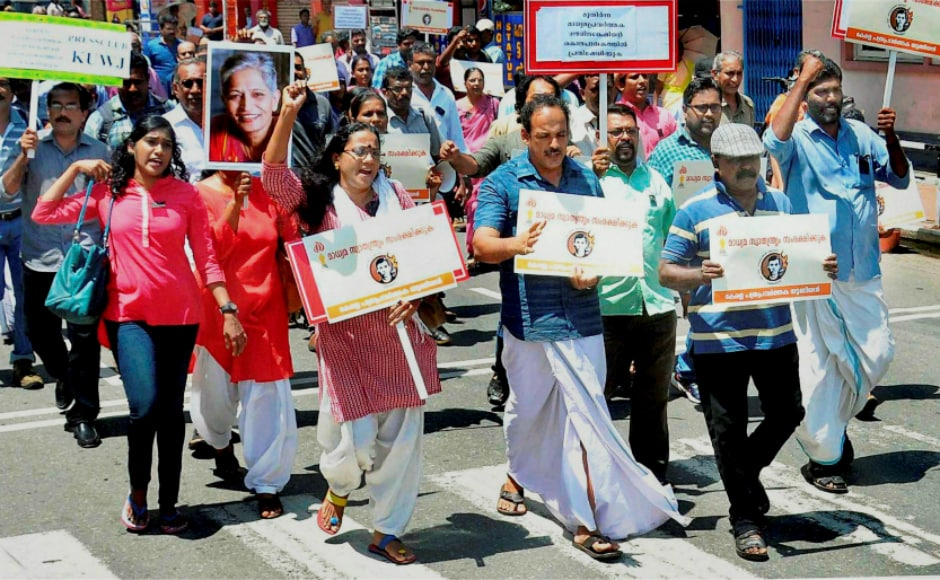 Amnesty International India, Editors Guild of India, Mumbai Press Club, Bombay Union of Journalists, CPI, CPM condemned her murder and sought a speedy probe in the case. PTI