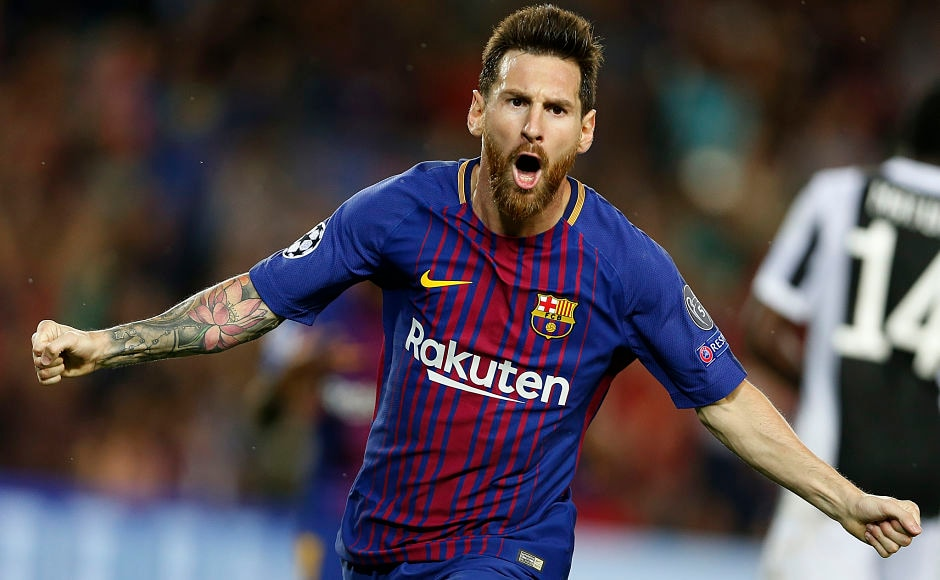Lionel Messi scored for the first time against Juventus's legendary goalkeeper Gianluigi Buffon as Barcelona won 3-0 against Juventus. AP