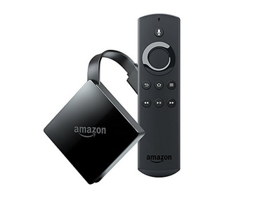 Amazon Fire TV with 4K HDR support and Alexa Voice Remote.