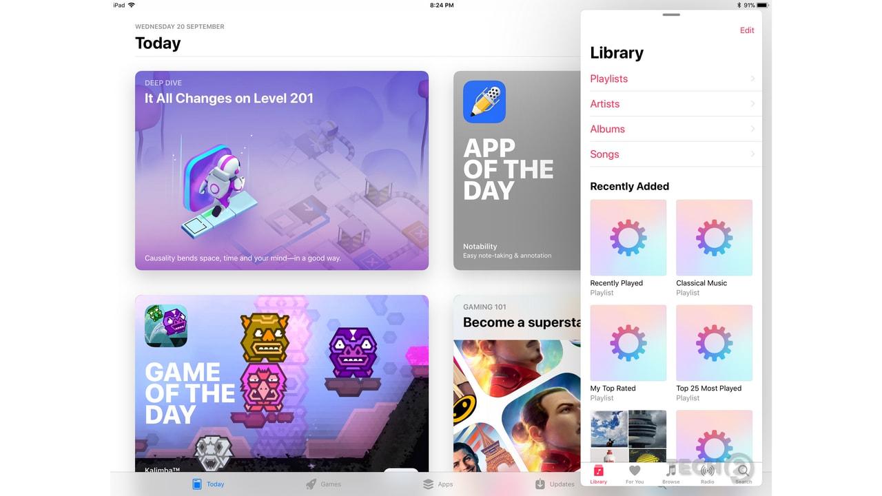 Apple iOS 11 on iPad Pro