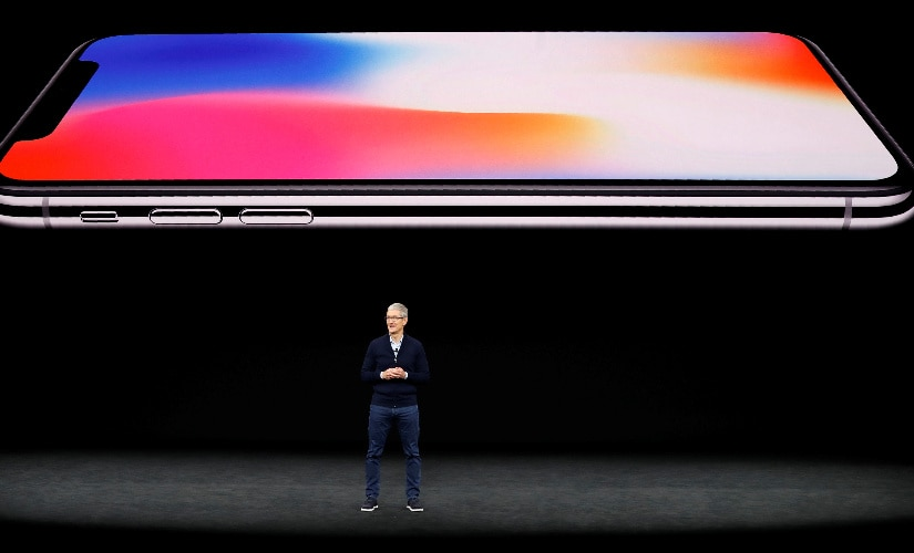 The Apple iPhone X at the launch event.