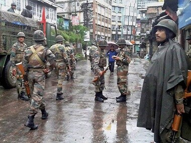 File image of army forces in Darjeeling. PTI