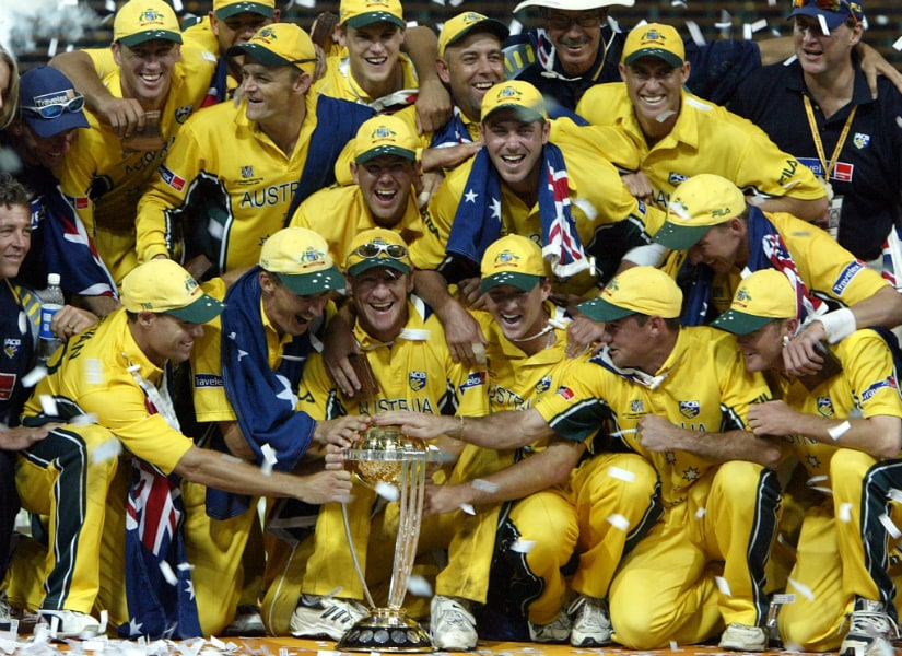 Australia beat India by 125 runs in the 2003 World Cup final at the Wanderers in Johannesburg. Reuters