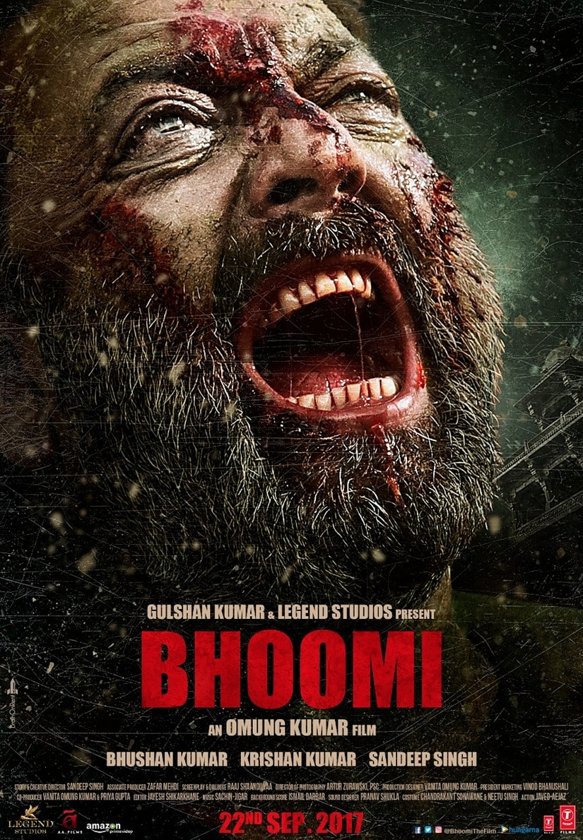 Bhoomi: Sanjay Dutt looks ferocious, gory in new poster of ...