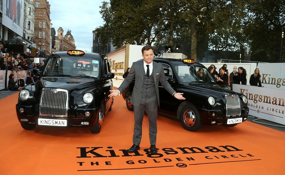 Taron Egerton, the young star from the film Kingsman: The Golden Circle in London. Photo courtesy: Joel Ryan/AP
