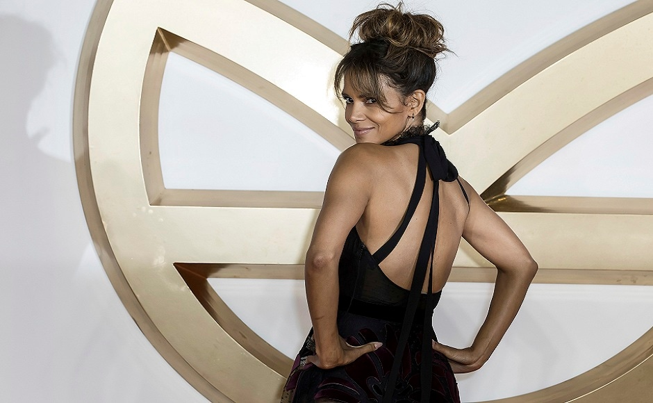 Halle Berry poses for photographers on arrival at the premiere of the film Kingsman: The Golden Circle, in London. Photo courtesy: Grant Pollard/AP