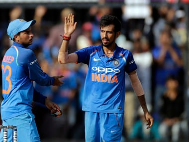 India's Yuzvendra Chahal in action during the third ODI against Australia. AP