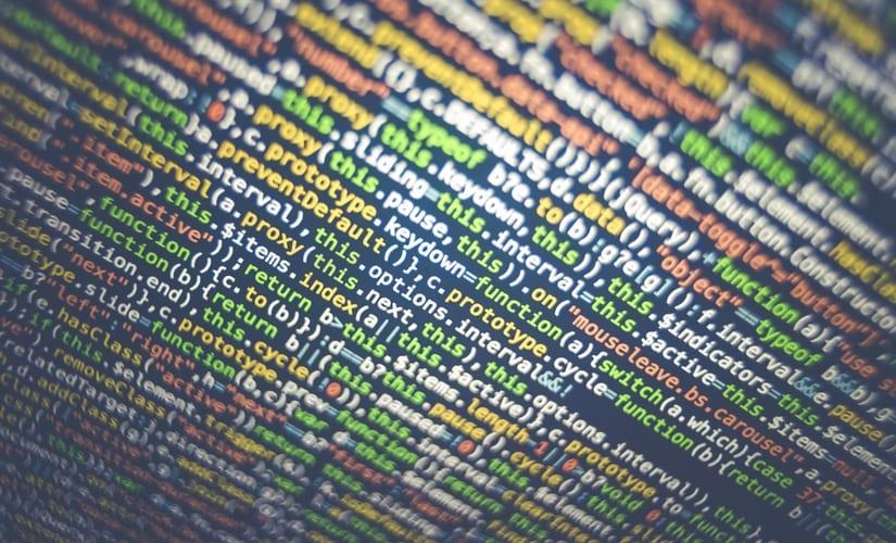 Code fragment, malware virus 825px