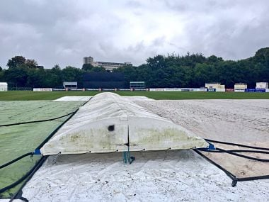 The one-off ODI between West Indies and Ireland was washed out on Wednesday. Image courtesy: Twitter @westindies