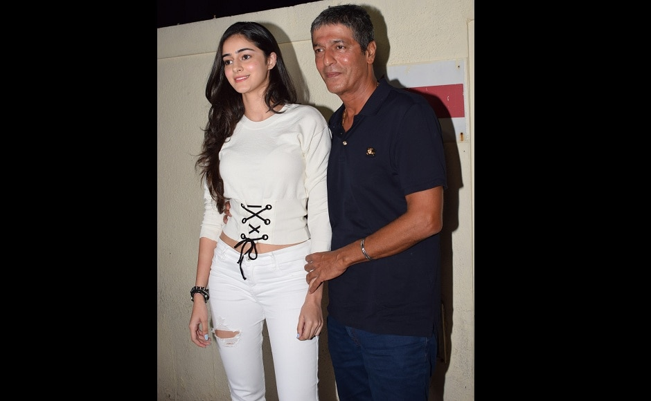 Ananya Panday with Chunky Panday attended the show together.