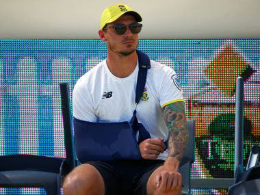 Cricket - Australia v South Africa - First Test cricket match - WACA Ground, Perth, Australia - 5/11/16 Injured South African bowler Dale Steyn sits on the boundary before the start of play at the WACA Ground in Perth. REUTERS/David Gray - S1AEUKZUKIAA