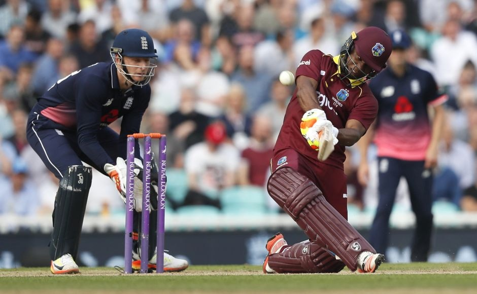But a 117-run stand between Evin Lewis and Jason Mohammed and a partnership of 168 off just 108 balls between Lewis and Jason Holder saw West Indies race away. AP