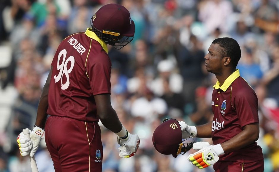 Lewis and captain Jason Holder's partnership (77 off 62 balls) was West Indies' best for the fifth wicket in ODIs. AP