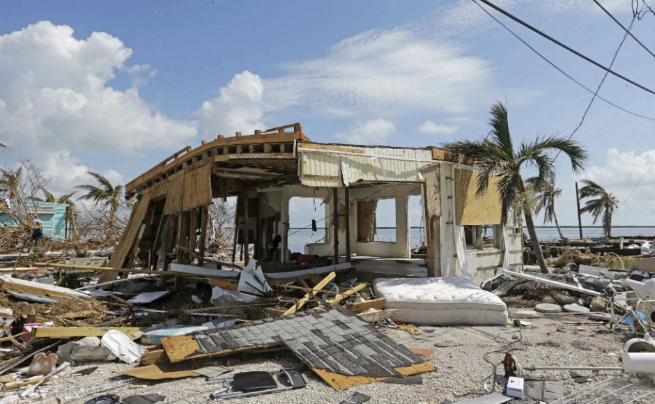 Insured property losses in Florida from Irma are expected to run from $20 billion to $40 billion. Irma's arrival in Florida came around two weeks after Hurricane Harvey claimed about 60 lives and caused property damage estimates as high as $180 billion in Texas. AP