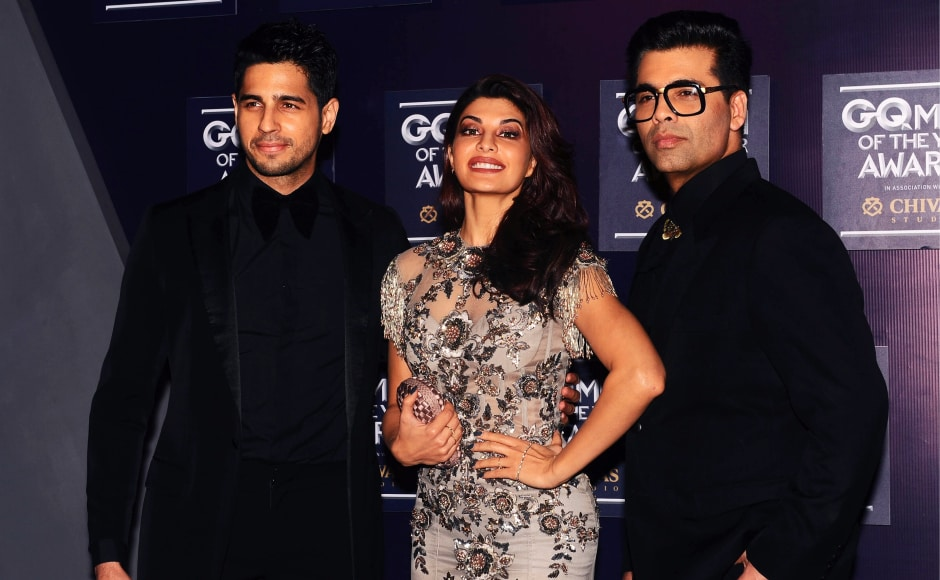 Sidharth Malhotra received the Most Stylish award at the GQ Awards this year. Karan Johar was awarded Producer of the Year. Image from AFP.