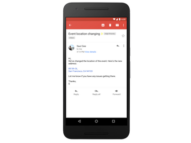 Google updates Gmail app to bring shareable links of addresses and phone numbers