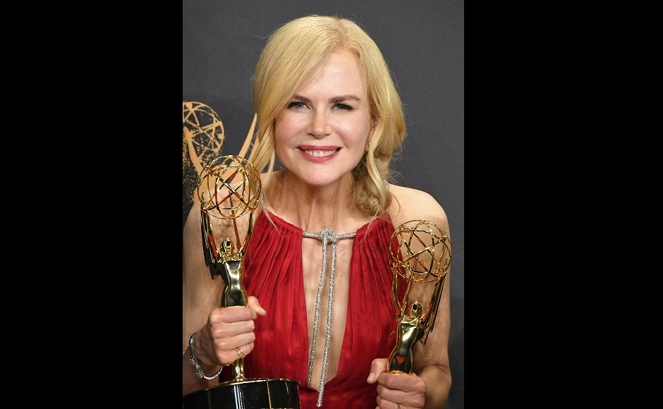 Nicole Kidman took home two awards at Emmy Awards 2017 — Outstanding Limited Series and Outstanding Lead Actress in a Limited Series or Movie for Big Little Lies. Image from Getty Images.