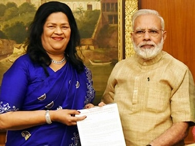 File image of Grace Pinto with Narendra Modi. Image courtesy: RyanInternational.org