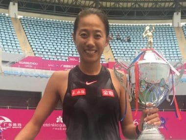 Zhang Shuai claimed her second career WTA title at Guangzhou Open. Twitter @WTA