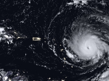File satellite image of Hurricane Irma. AP