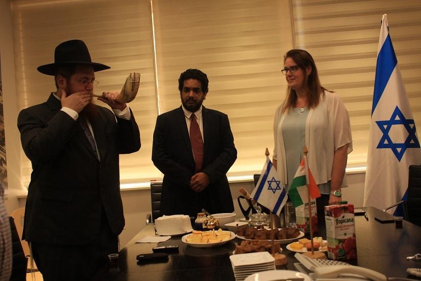 Rabbi David Rivkin with Dana Kursh, the Consular General of the Israeli Consulate for South India, Bengaluru