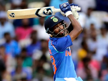 India's Hardik Pandya blasted 83 runs off 66 balls and snared two wickets in the first ODI agaisnt Australia. AP