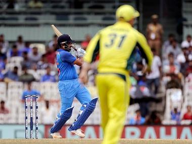 Indian cricket player Rohit Sharma bats during the first one-day international cricket match between India and Australia in Chennai, India, Sunday, Sept. 17, 2017. (AP Photo/Rajanish Kakade)