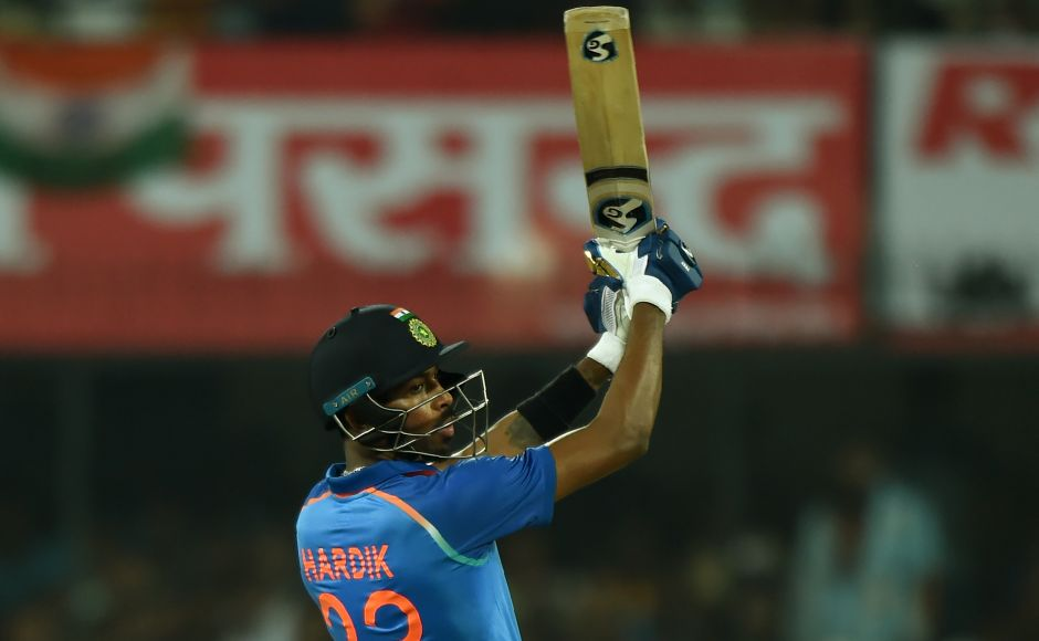 Hardik Pandya hit an aggressive half-century to lead India to a series-clinching five-wicket win over Australia in the third one-day international in Indore on Sunday. AFP