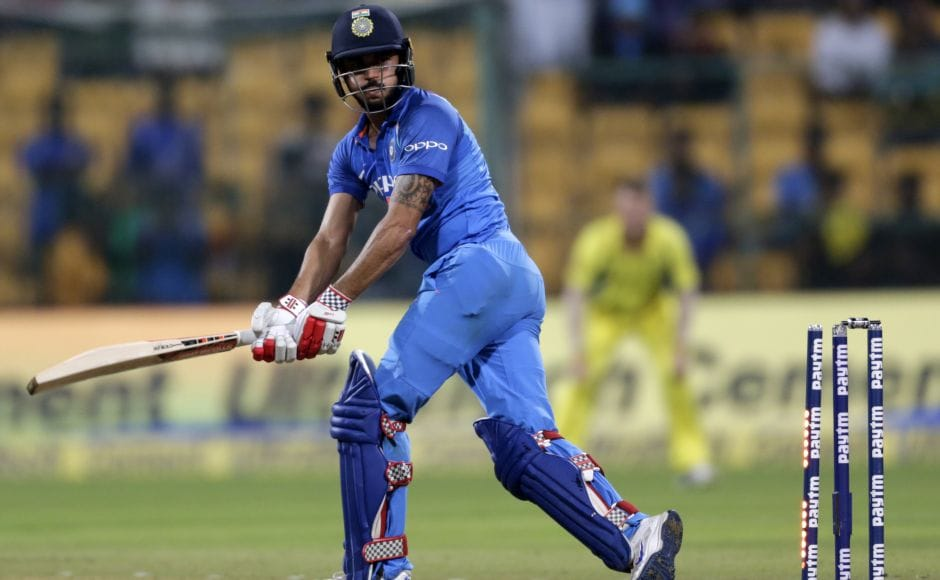 Three balls later, Manish Pandey was bowled on 33 by Pat Cummins. MS Dhoni led India past 300, but the asking rate was too much in the face of inspired death bowling from the Australia quicks. India ended on 313-8. AP