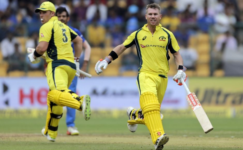 It was a chanceless partnership as Indian fielders looked short of energy. Warner reached his half-century off 45 balls, and Finch too followed his hundred in Indore with his 17th ODI half-century off 65 balls. The duo continued plundering at ease as for once the Indian spinners proved expensive as well. AP