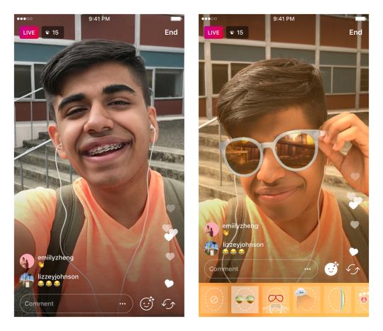 Instagram Live video filter. Instagram Blog.