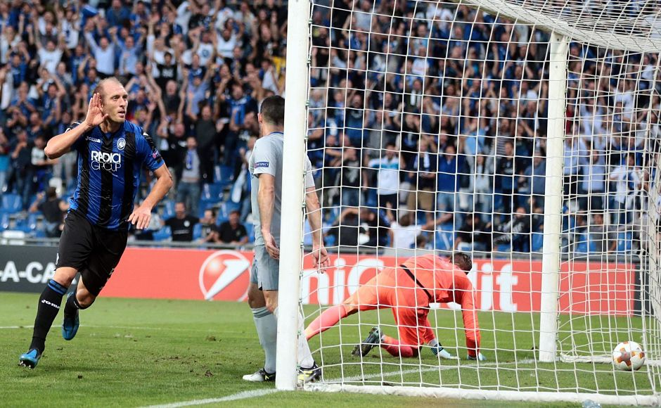 Atalanta stunned Premier League side in their Europa League group E fixture as the Serie A side won 3-0. Andrea Masiello opened the scoring for the Italian side. AP