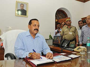 File image of Union minister Jitendra Singh. Courtesy: PIB