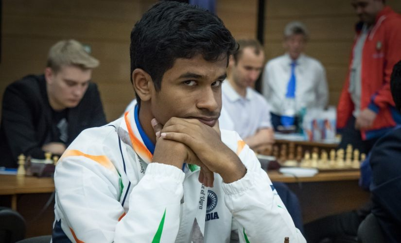 Karthikeyan at the World Teams 2017. Image courtesy: Anastasiya Balakhontseva