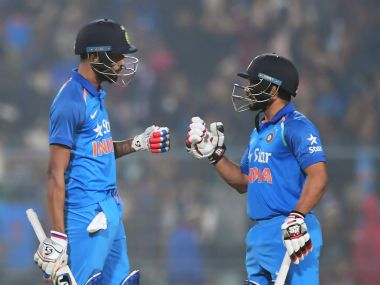 Hardik Pandya (L) and Kedar Jadhav (R) are proving to be just the right foil for Mahendra Singh Dhoni in India's middle order. AFP