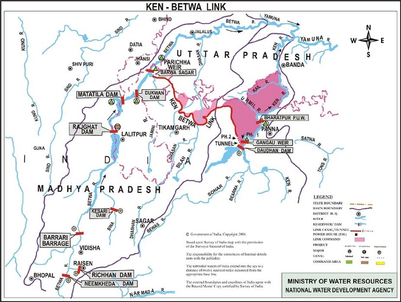 Ken-Betwa river-linking project. Source: Ministry of water resources