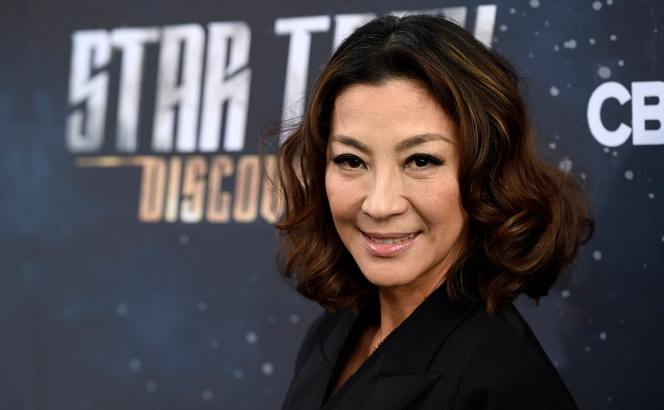 Michelle Yeoh arrives at the premiere of Star Trek: Discovery. Photo courtesy: Chris Pizzello/Invision/AP