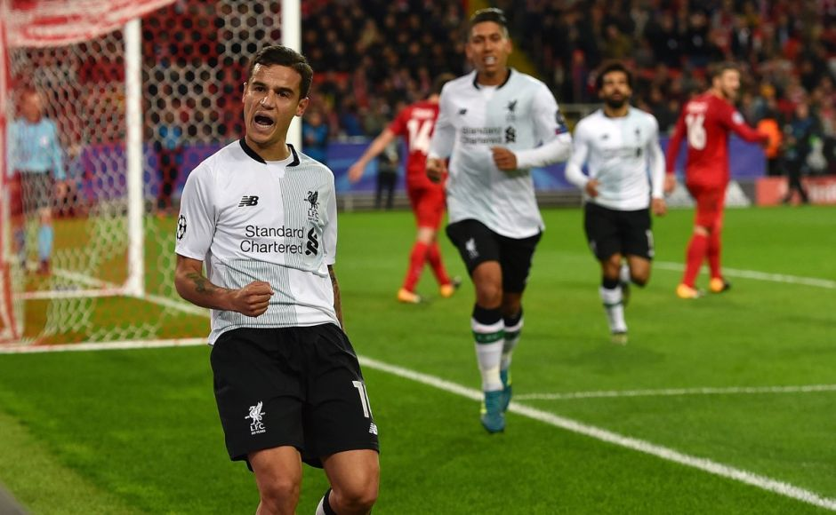 After CSKA had taken the lead, Philippe Coutinho's curling free-kick ensured Liverpool took a point home from Moscow. Image courtesy: @LFC