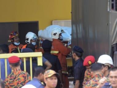 Fiel image of the Kuala Lumpur school fire. AP