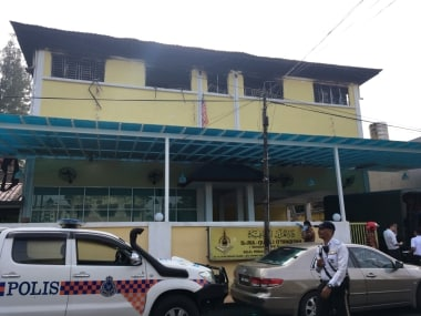 The tahfiz school where the fire broke out. Reuters
