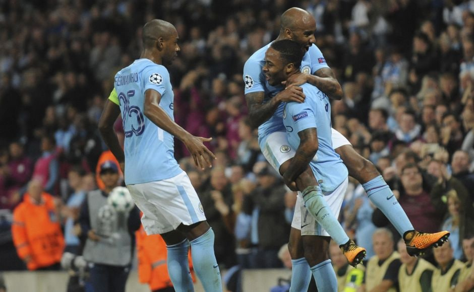 Raheem Sterling and Kevin De Bruyne were on target for Manchester City as they beat Ukranian champions Shakhtar Donetsk 2-0. AP
