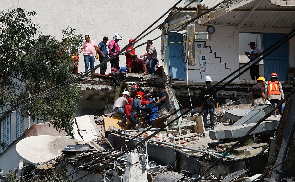 President Enrique Pena Nieto, who rushed to the site, warned the death toll could rise.