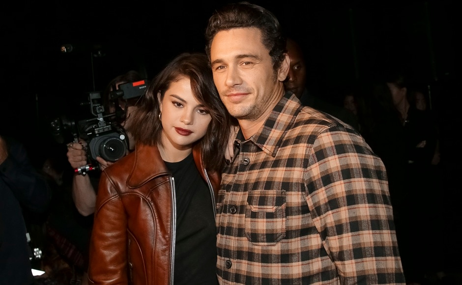 Selena Gomez and James Franco attend the Coach 2018 Spring/Summer Presentation on in New York. Image from AP.