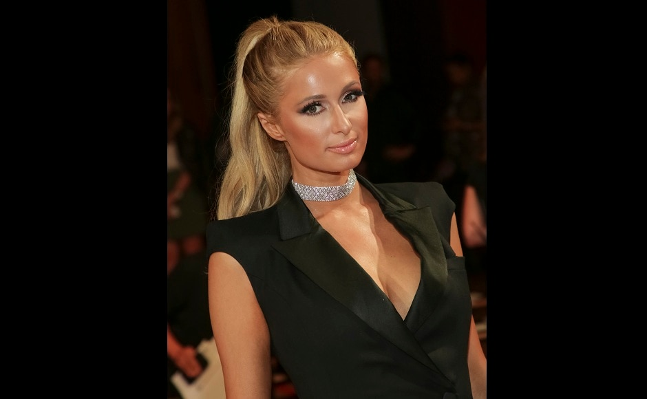 Paris Hilton at theMonse 2018 Spring/Summer Presentation in New York. Photo by Brent N. Clarke/Invision/AP