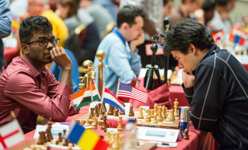 After testing SP Sethuraman until the 94th move, Haru Nakamura decided it was time to take the draw and call it a day