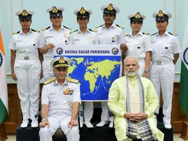 Indian Navys first all-women crew welcomed post circumnavigating the globe, expedition took over 8 months