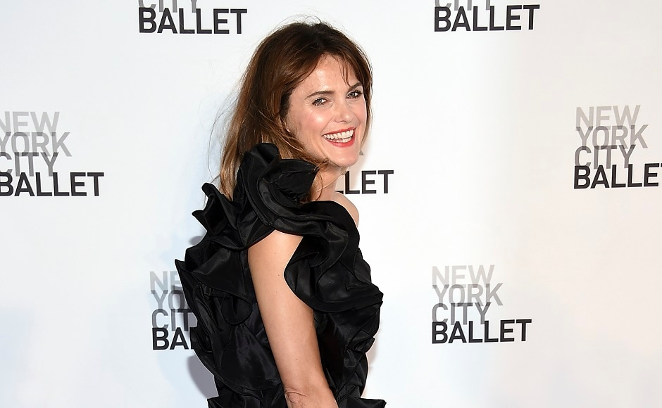 Actress Keri Russell attends the New York City Ballet's Fall Fashion Gala. Image from AP
